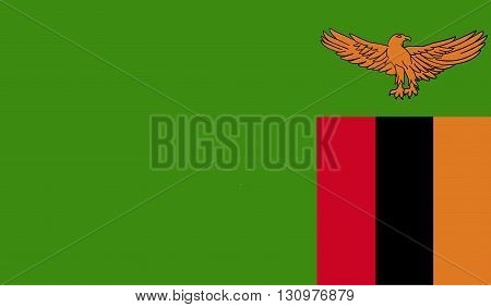 Zambia flag image for any design in simple style