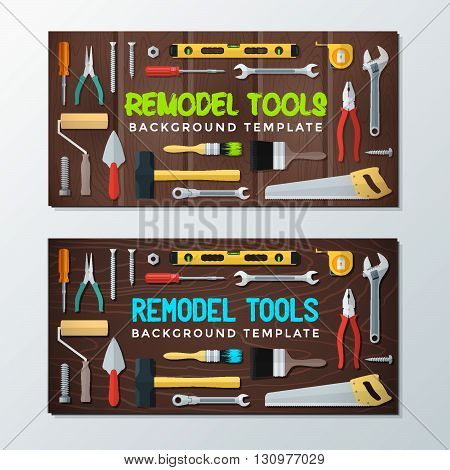 Remodel Tools Backdrops Banner Templates.