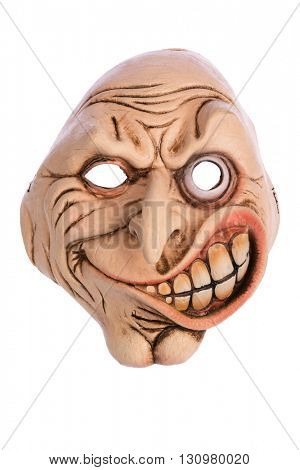 Scary Face Mask isolated on White Background