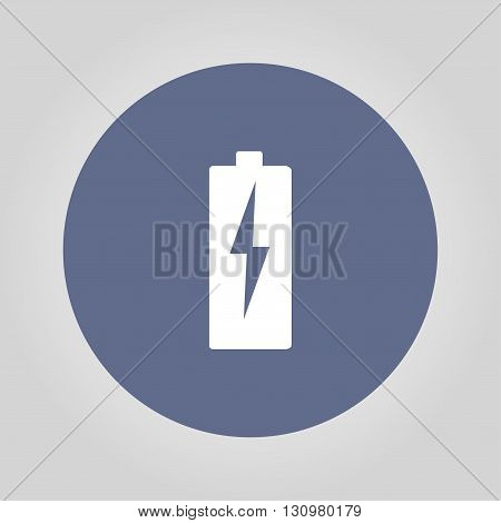 Illustration of Flat Battery Sign Vector Charging Energy Symbol Background