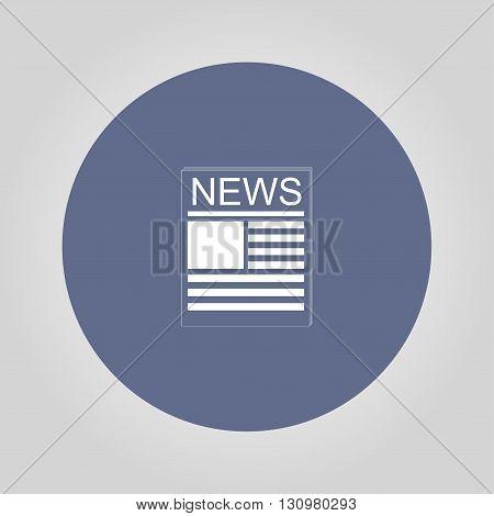 Flat icon of news. Flat design style eps 10