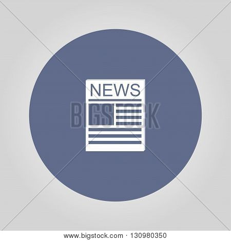 Flat icon of news. Flat design style eps 10