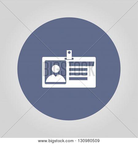 Identification card icon. Flat design style. EPS