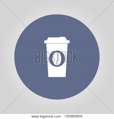 paper coffee cup. Flat design style eps 10
