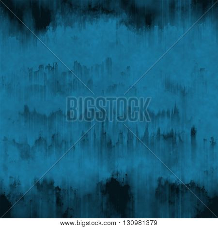 Dark Blue Grunge Ink Runs And Strokes Background