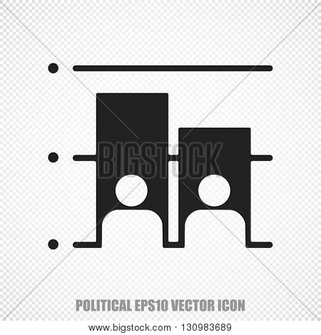 The universal vector icon on the political theme: Black Election. Modern flat design. For mobile and web design. EPS 10.