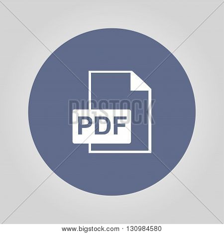 PDF icon. Flat design style eps 10