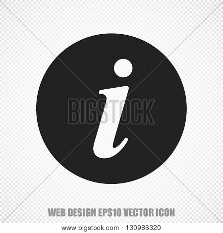 The universal vector icon on the web development theme: Black Information. Modern flat design. For mobile and web design. EPS 10.