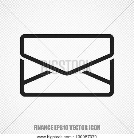 The universal vector icon on the finance theme: Black Email. Modern flat design. For mobile and web design. EPS 10.