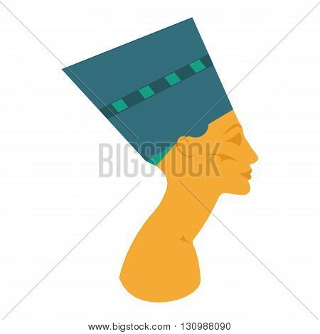 The head of the Egyptian queen. Nefertiti vector illustration