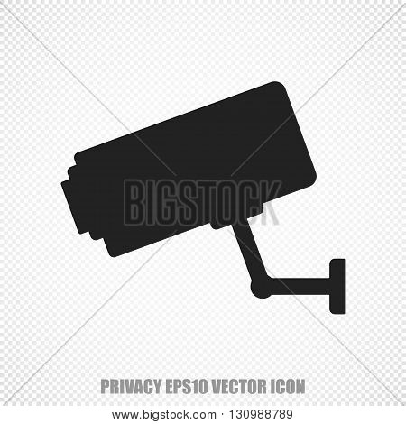 The universal vector icon on the safety theme: Black Cctv Camera. Modern flat design. For mobile and web design. EPS 10.