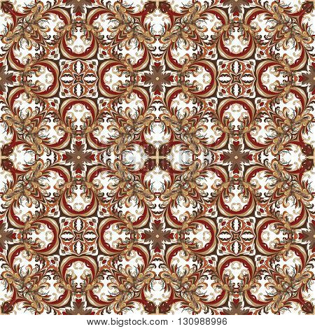 Wallpaper in the style of Baroque. A seamless vector background. Damask floral pattern.