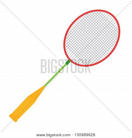Badminton racket illustration. Badminton racket isolated on white background