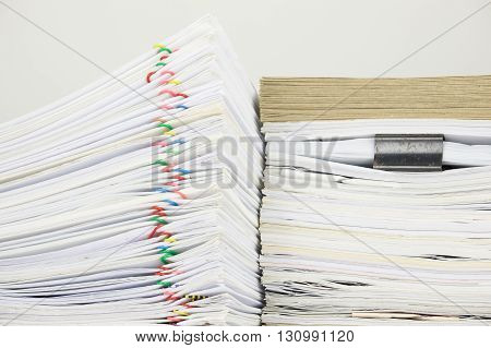 Overload Paper Have Blur Envelope On Document With White Background