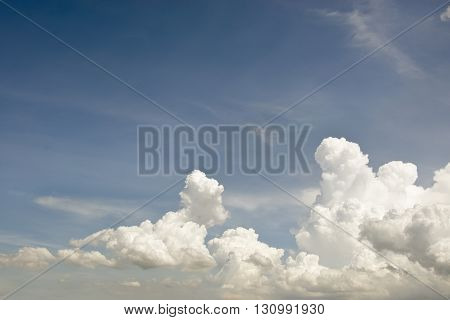 Clear blue sky with white cloud for graphic usage