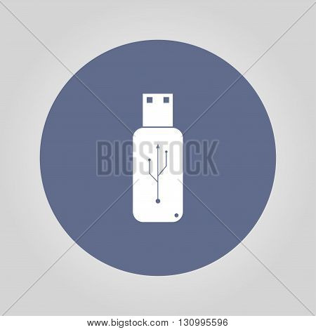 usb icon - vector. Flat design style. EPS