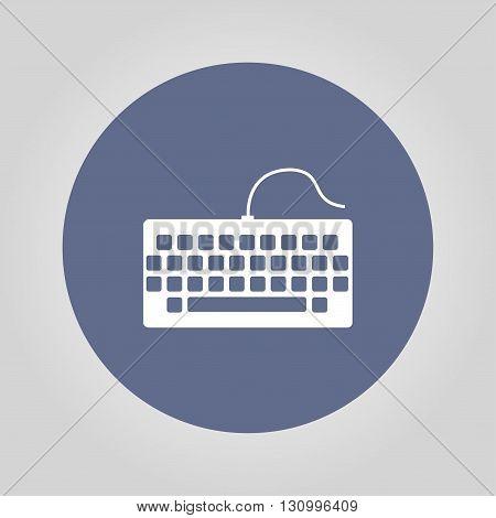 keyboard icon. Flat design style eps 10