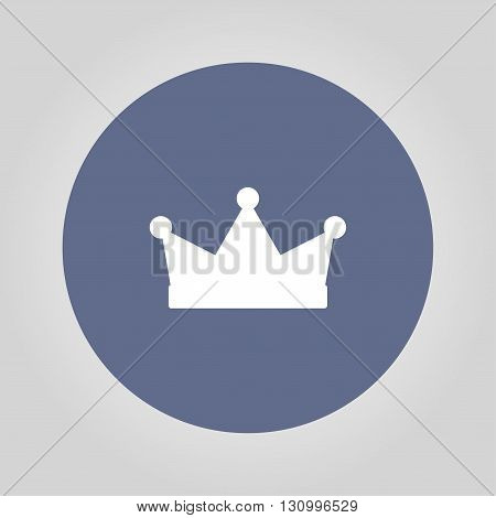 Crown icon vector illustration. Flat design style