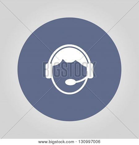 Support icon. Flat vector illustration EPS 10