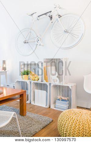 Creative Way To Store Bike At Home