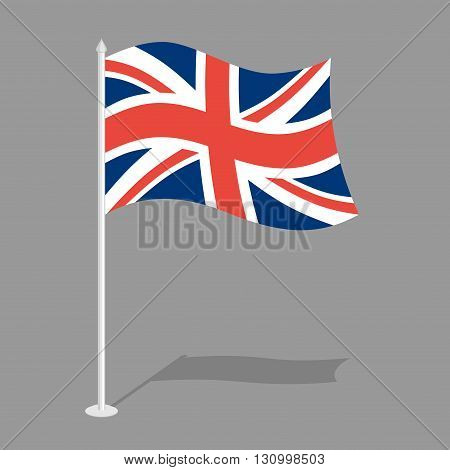 Great Britain Flag. Official National Symbol Of  United Kingdom Of Great Britain And Northern Irelan