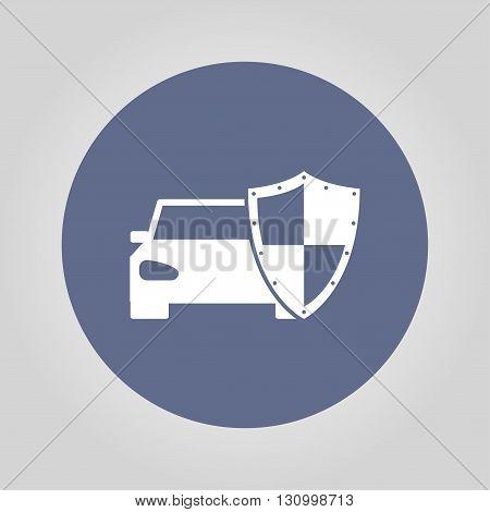 car shield icon. Flat design style eps 10