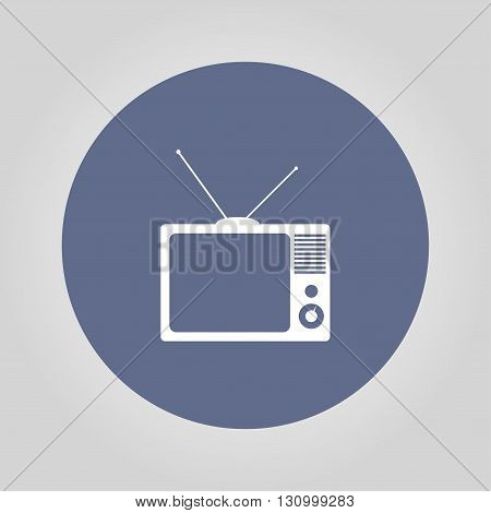 TV vector icon. Flat design style eps 10