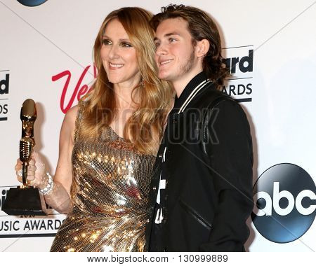 LAS VEGAS - MAY 22:  Celine Dion, Rene-Charles Angelil at the Billboard Music Awards 2016 at the T-Mobile Arena on May 22, 2016 in Las Vegas, NV