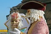 stock photo of venice carnival  - some of the most beautiful masks of the carnival of venice italy - JPG