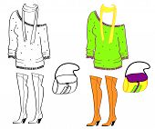 Clothes and accessories for woman