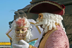 picture of venice carnival  - some of the most beautiful masks of the carnival of venice italy - JPG