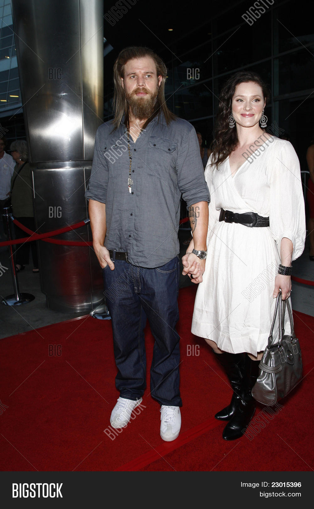 LOS ANGELES CA AUGUST 30 Ryan Hurst Wife Molly At The FX 39 S 39 Sons
