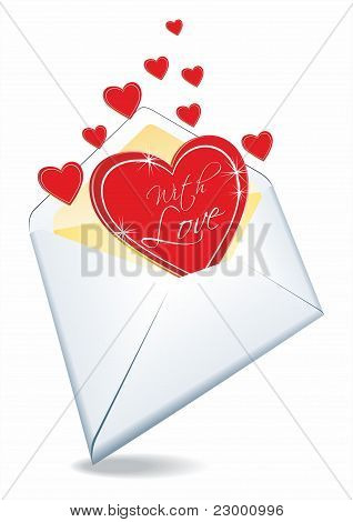 envelope and hearts.
