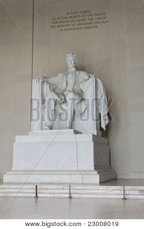 Lincoln Memorial close-up in Washington DC, USA