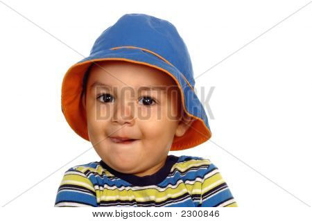 Funny Face Boy With Hat