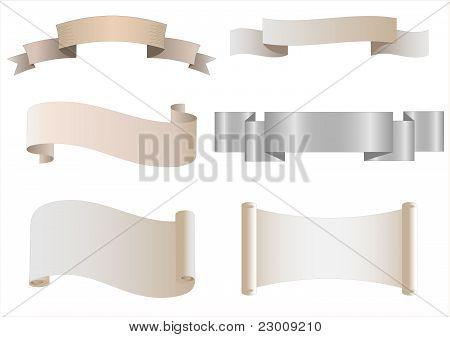 Set Of Heraldic Scrolls