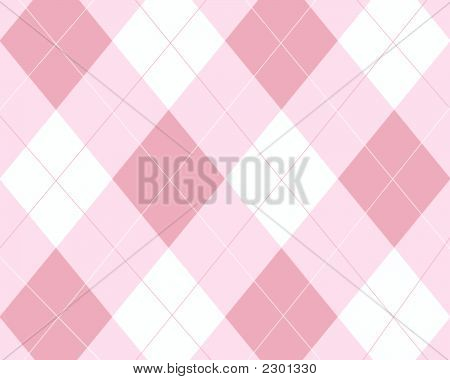 Pink And White Argyle