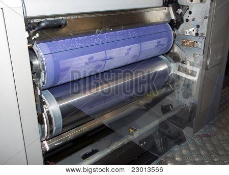 Offset press printing