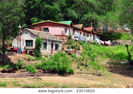 Poor chinese village in Jilin province