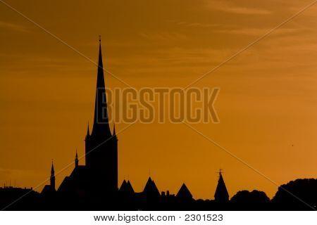 Sunset Over Tallinn, Estonia.