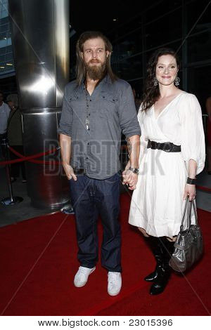 LOS ANGELES, CA - AUGUST 30: Ryan Hurst; wife Molly at the FX's 'Sons Of Anarchy' season 4 premiere at the ArcLight Cinemas Cinerama Dome on August 30, 2011 in Los Angeles, California
