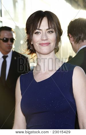 LOS ANGELES, CA - AUGUST 30: Maggie Siff at the FX's 'Sons Of Anarchy' season 4 premiere at the ArcLight Cinemas Cinerama Dome on August 30, 2011 in Los Angeles, California