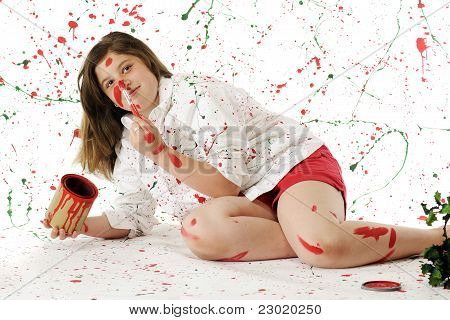Painting Herself Christmas