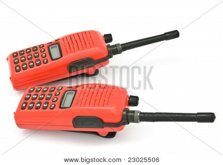 Radiocomunicación rojo