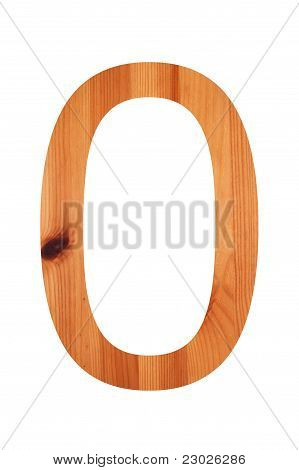 Wood Alphabet 0
