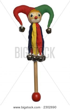 Wooden Marionette Isolated On White
