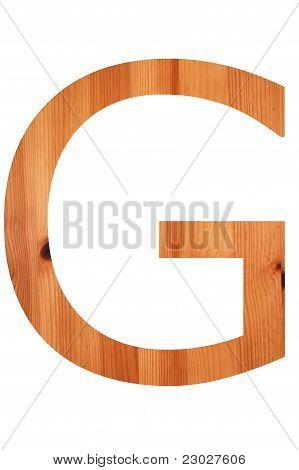 Wood Alphabet G