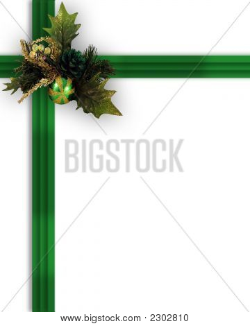 Green Christmas Present Decoration