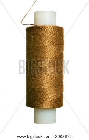 Brown Spun Polyester Sewing Thread
