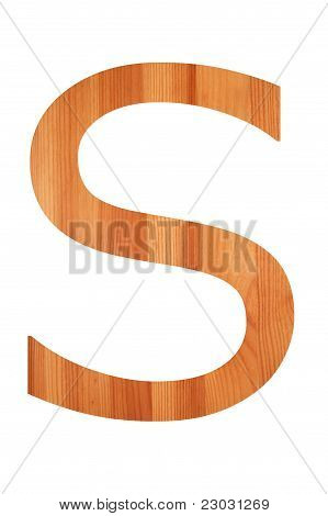 Wood Alphabet S